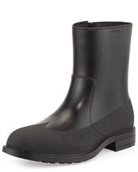 Salvatore Ferragamo Baltimora 4 Shearling Lined Rain Boot Black