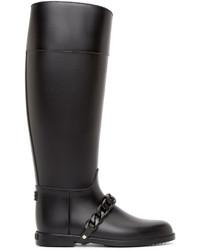Givenchy Black Chain Eva Rain Boots