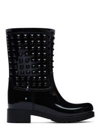 Valentino Black Garavani Tonal Rain Boots