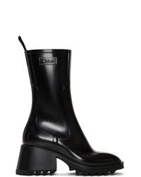 Chloé Black Pvc Betty Rain Boots