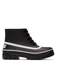 Givenchy Black Rubber Glaston Rain Boots