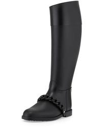Givenchy Chain Strap Pvc Rain Boot Black