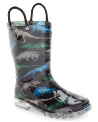 Western Chief Dinosaur Friends Light Up Rain Boot