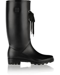 dav Dv Lug Lace Rubber Rain Boots