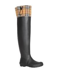 Burberry Freddie Tall Waterproof Rain Boot