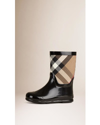 Burberry House Check Panel Rain Boots