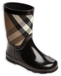 Burberry Kids Rubber Check Cotton Rain Boots