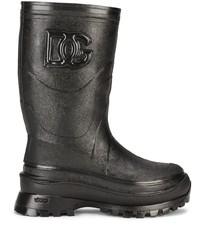 Dolce & Gabbana Logo Embossed Boots