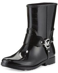 MICHAEL Michael Kors Michl Michl Kors Fulton Harness Short Rain Boot Black