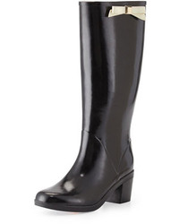 Kate Spade New York Romi Rubber Bow Rain Boot Black