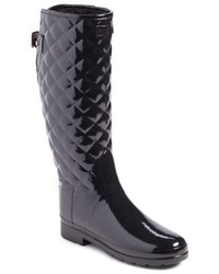 Original refined high gloss quilted rain boot medium 5168642