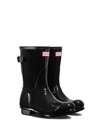 Hunter Original Short Adjustable Back Gloss Waterproof Rain Boot