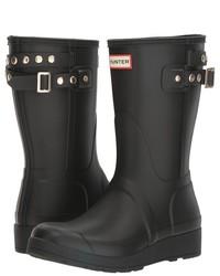 Hunter Original Short Wedge Back Strap Stud Rain Boots