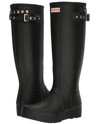 Hunter Original Tall Wedge Back Strap Stud Rain Boots
