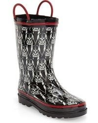 Western Chief Toddler Boys Darth Vader Glow In The Dark Rain Boot