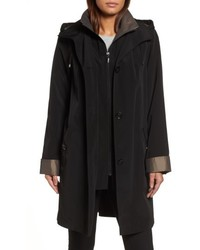 A line raincoat with detachable hood liner medium 6461145