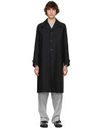 Maison Margiela Black Canvas Rain Coat