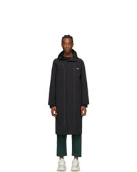 A-Cold-Wall* Black Contrast Stitch Windbreaker Coat