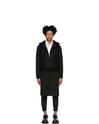 Neil Barrett Black Corduroy Convertible Coat