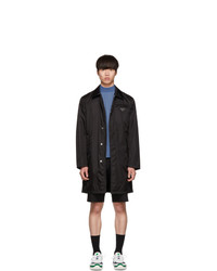 Prada Black Gabardine Car Coat
