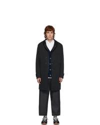 Comme des Garcons Homme Black Jersey Coat
