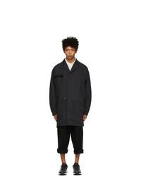 Fumito Ganryu Black Lapelled Mods Coat