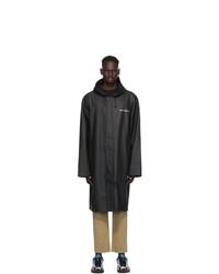 Vetements Black Logo Rain Coat