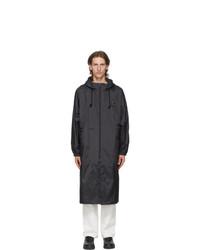 Acne Studios Black Plaque Rain Coat