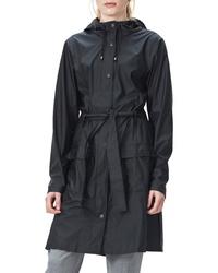 Rains Curve Waterproof Hooded Rain Jacket