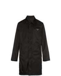 Prada Logo Plaque Trench Coat