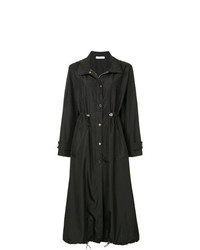 Versace Collection Long Drawstring Raincoat