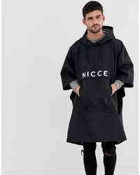 Nicce London Nicce Overhead Poncho With Large Logo In Black