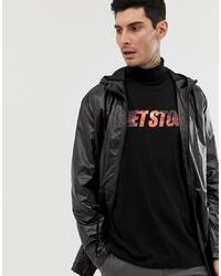 ASOS DESIGN Parka Jacket In High Shine Black