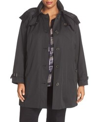 London Fog Plus Size Single Breasted Trench Coat