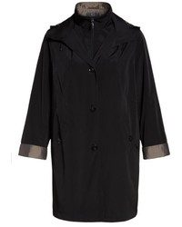 Gallery Two Tone Long Silk Look Raincoat