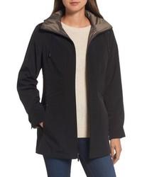 Gallery Two Tone Long Silk Look Raincoat
