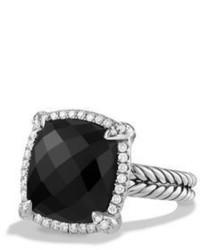 David Yurman 14mm Chtelaine Ring With Diamonds