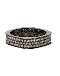 Ofira 18 Karat Blackened White Gold Diamond Ring