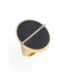 Rachel Zoe Alana Leather Ring