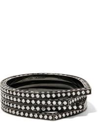 Repossi Antifer 18 Karat Black Gold Washed Diamond Ring