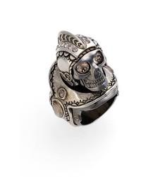 Alexander McQueen Armour Large Skull Ring
