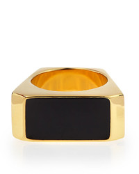 Saint Laurent Blackgolden Colorblock Ring