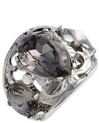 Oscar de la Renta Crystal Filigree Ring