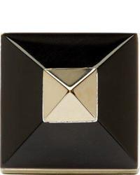 Givenchy Gold Black Pyramid Ring