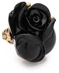 Oscar de la Renta Resin Rose Ring