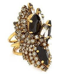 Erickson Beamon Rin Oversized Crystal Statet Ring