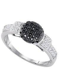 SEA Of Diamonds 018ct Black Dia Ring
