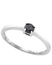 SEA Of Diamonds 025ctw Black Dia Ring