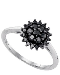 SEA Of Diamonds 049ctw Black Dia Ring