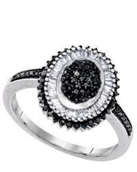 SEA Of Diamonds 050ctw Black Dia Ring